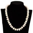 Precio especial: Collar Jade Blanco, AB, 13mm