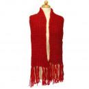 Classic Women's sjaal, 150x14cm, Rood