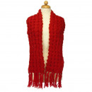 Women's Scarf with pattern, 158x20cm, Red