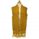 Dames sjaal met patroon, 158x20cm, goud