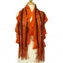 Lichte dames sjaal, 120x25cmm, Orange