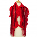 wholesale Scarves & Shawls: Light ladies  scarf, 120x25cmm, Red
