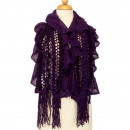 Light ladies scarf, 120x25cmm, Purple
