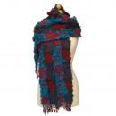 wholesale Scarves & Shawls: Stylish ladies  scarf, 160x28cm, Blue-Red