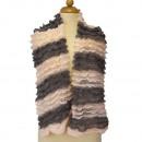 Lichte dames sjaal, 160x13cmm, Roze Grijs