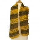 Lichte dames sjaal, 160x13cmm, Geel-Groen