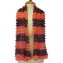 Lichte dames sjaal, 160x13cmm, Apricot Paars