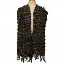 Stijlvolle dames sjaal, 170x23cm, groen-grijs