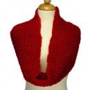 groothandel Vitrage & Gordijnen:Lus sjaal, 52x20mm, Rood
