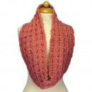 groothandel Vitrage & Gordijnen: Lus sjaal met patroon, 54x18mm, Roze