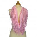 groothandel Vitrage & Gordijnen:Lus sjaal, 50x30mm, Roze