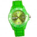 Großhandel Armbanduhren: Silikonuhr, 4,7 x 25cm, Grün