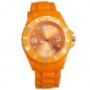 Großhandel Schmuck & Uhren: Silikonuhr, 4,7 x 25cm, Orange