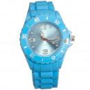 Großhandel Armbanduhren: Silikonuhr, 4,7 x 25cm, Hellblau