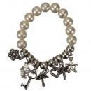 Fashionable Bracelet, 12mm, cream