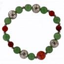 Bransoletka Aventurine zielony / czerwony agat