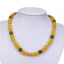 grossiste Bijoux & Montres:Collier Jade jaune