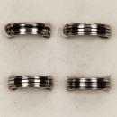 Roestvrij stalen ring, zilver-zwart, set