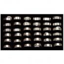 36 stainless steel rings, design9