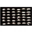36 roestvrij stalen ringen, design10