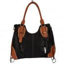 Fashionable handbag Silke, Black / Brown