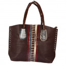 Fashionable handbag Eva, brown / colored