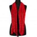 Sjaal gerimpelde afwerking, 160x50cm, Red