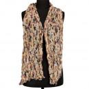 Sjaal gerimpelde afwerking, 160x50cm, beige-gekleu