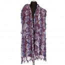 Stijlvolle dames sjaal, 170x30cm, Paars