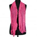 Sjaal gerimpelde afwerking, 160x50cm, Pink
