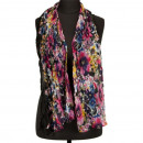 Scarf crinkle finish, 160x50cm, black-stained