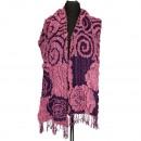 Stijlvolle dames sjaal, 200x40cm, Paars-Roze