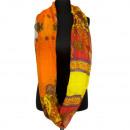 Snood / Loop, Oranje Geel Rood, 180x95cm