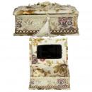 wholesale Jewelry Storage: Rectangular jewelry box, cream