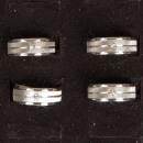 Silver Sand RVS ring met steen