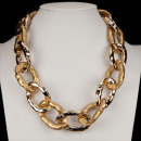 Wide Link Chain, Gold