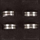 grossiste Anneaux et bagues: Acier bague en  forme de dôme en acier, argent anth