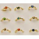 mayorista Otro: Convenientemente  variar anillos con piedras, oro
