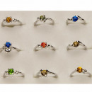 Gunstig variëren ringen met stenen, zilver