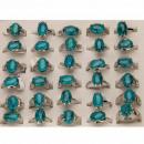 grossiste Anneaux et bagues: Les cercles de  distance synthé. Turquoise