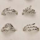grossiste Bijoux & Montres: anneaux de mode  Plage avec des pierres, de l'a