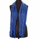 Crinkle sjaal, 160x50cm, Steel Blue