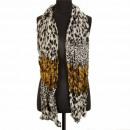 Crinkle sjaal, 180x50cm, Beige-Brown