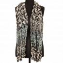 Crinkle sjaal, 180x50cm, grijs-beige