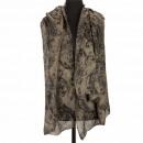 Sjaal, bruin-zwart, 180x90cm