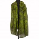 Sjaal, groen-zwart, 180x90cm
