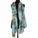 Sjaal, blauw, 180x50cm