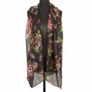 Sjaal, zwart, 180x50cm