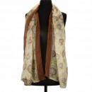 Sjaal, geel-bruin, 160x50cm