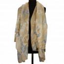 Sjaal, Licht Bruin Blauw, 180x90cm